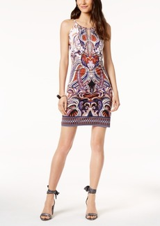 INC International Concepts I.n.c. Petite Printed Embellished Keyhole Dress, Created for Macy's