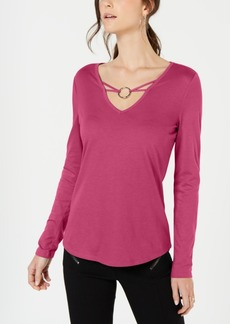 INC International Concepts Inc Embellished V-Neck Top, Created for Macy's