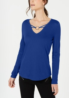INC International Concepts I.n.c. Embellished V-Neck Top, Created for Macy's