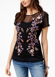 INC International Concepts I.n.c. Embroidered Mesh Top, Created for Macy's