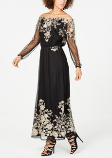 INC International Concepts Inc Embroidered Off-The-Shoulder Maxi Dress, Created For Macy's