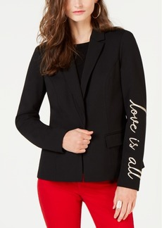 INC International Concepts I.n.c. Embroidered-Sleeve Blazer, Created for Macy's