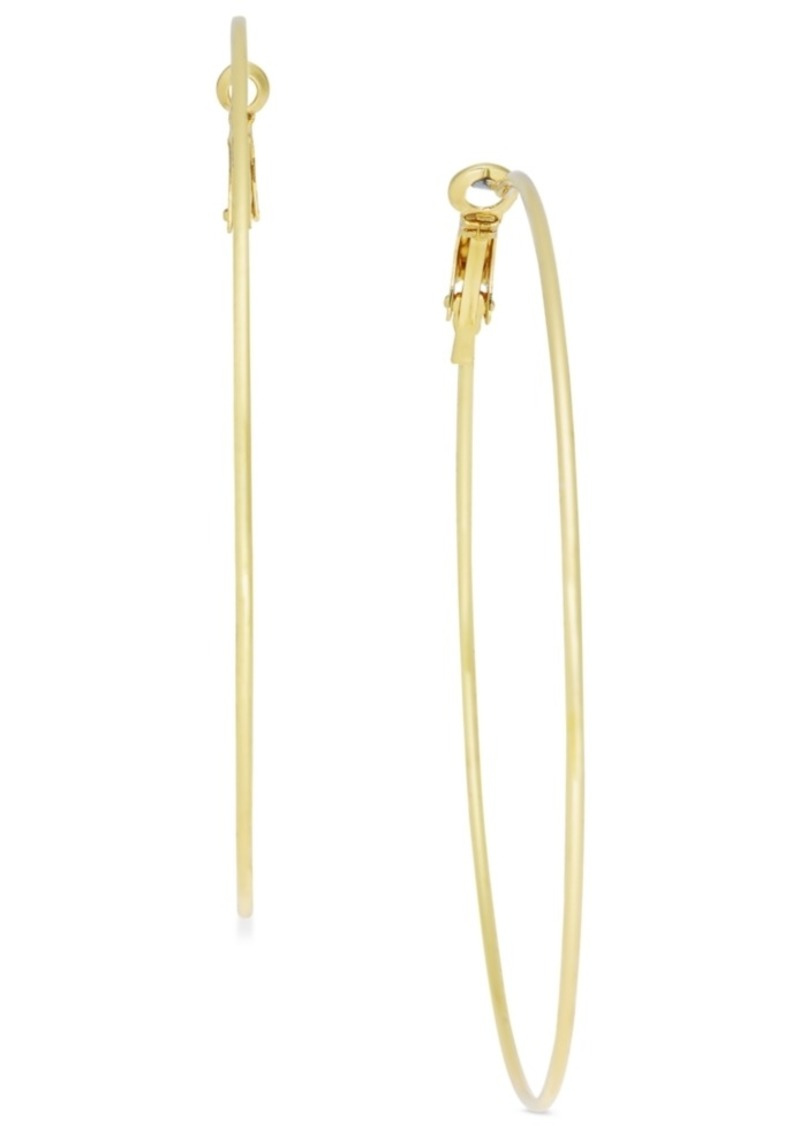 "INC International Concepts Inc Extra Large 2.75"" Gold-Tone Skinny Hoop Earrings, Created for Macy's"