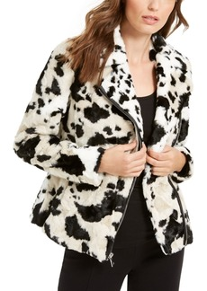 INC International Concepts Inc Faux-Fur Cow-Print Coat, Created For Macy's