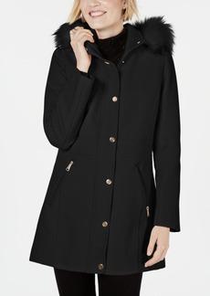 INC International Concepts I.n.c. Faux-Fur-Trim Hooded Coat, Created for Macys