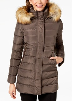 INC International Concepts I.n.c. Faux-Fur-Trim Hooded Puffer Coat, Created for Macy's