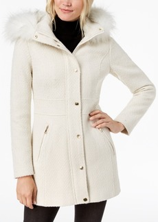 INC International Concepts I.n.c. Faux-Fur-Trim Woven Coat, Created for Macy's