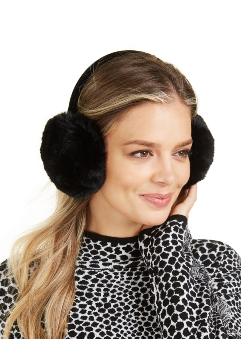 INC International Concepts Inc Faux-Fur Velvet-Band Earmuff, Created For Macy's