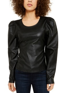 INC International Concepts Inc Faux-Leather Tie Top, Created for Macy's