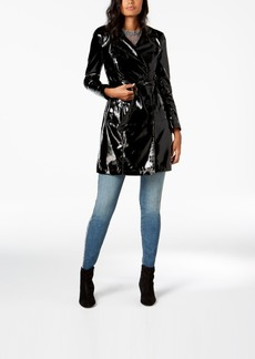 INC International Concepts I.n.c. Petite Patent Solid Trench, Created for Macy's