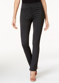 INC International Concepts I.n.c. Faux-Leather-Trim Straight-Fit Pants, Created for Macy's