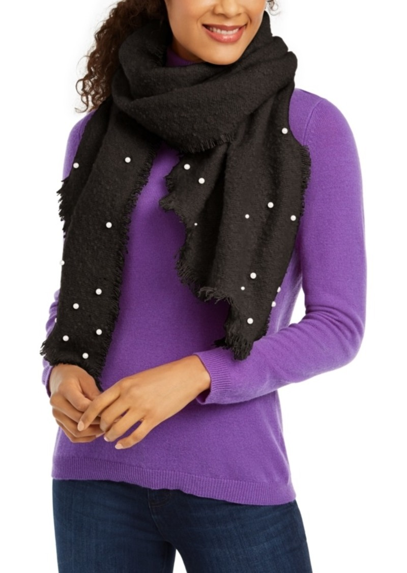 INC International Concepts Inc Faux-Pearl-Embellished Boucle Bias Wrap, Created for Macy's