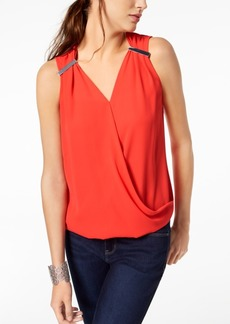 INC International Concepts I.n.c. Faux-Wrap Hardware Top, Created for Macy's