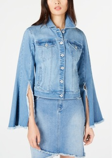INC International Concepts I.n.c. Flare-Sleeve Jean Jacket, Created for Macy's