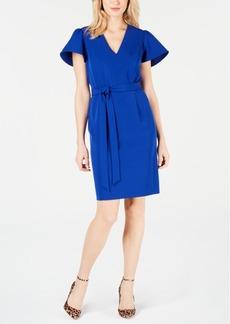 INC International Concepts I.n.c. Flare-Sleeve Tie-Belt Dress, Created for Macy's
