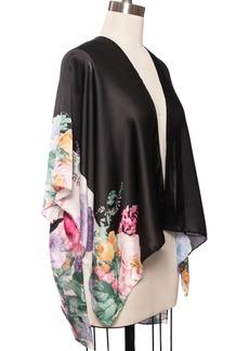 INC International Concepts Inc Floral Border Satin Ruana, Created for Macy's
