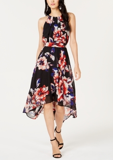 INC International Concepts I.n.c. Floral-Print Handkerchief-Hem Dress, Created for Macy's