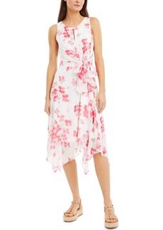 INC International Concepts Inc Floral-Print Handkerchief-Hem Midi Dress, Created for Macy's