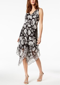 INC International Concepts I.n.c. Floral-Print Handkerchief-Hem Top, Created for Macy's