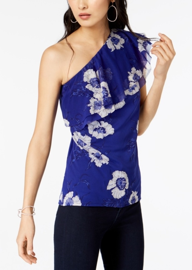 INC International Concepts I.n.c. Floral-Print One-Shoulder Top, Created for Macy's