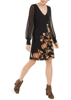 INC International Concepts Inc Floral-Print Statement-Sleeve Dress, Created For Macy's