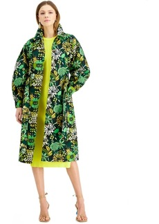 INC International Concepts Inc Floral-Print Twill Trench Coat, Created for Macy's