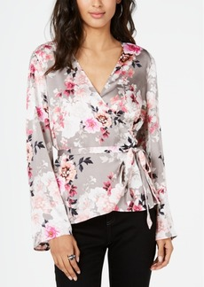 INC International Concepts I.n.c. Floral Wrap Blouse, Created for Macy's