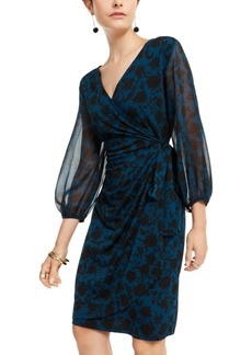 INC International Concepts Inc Floral Wrap Dress, Created for Macy's