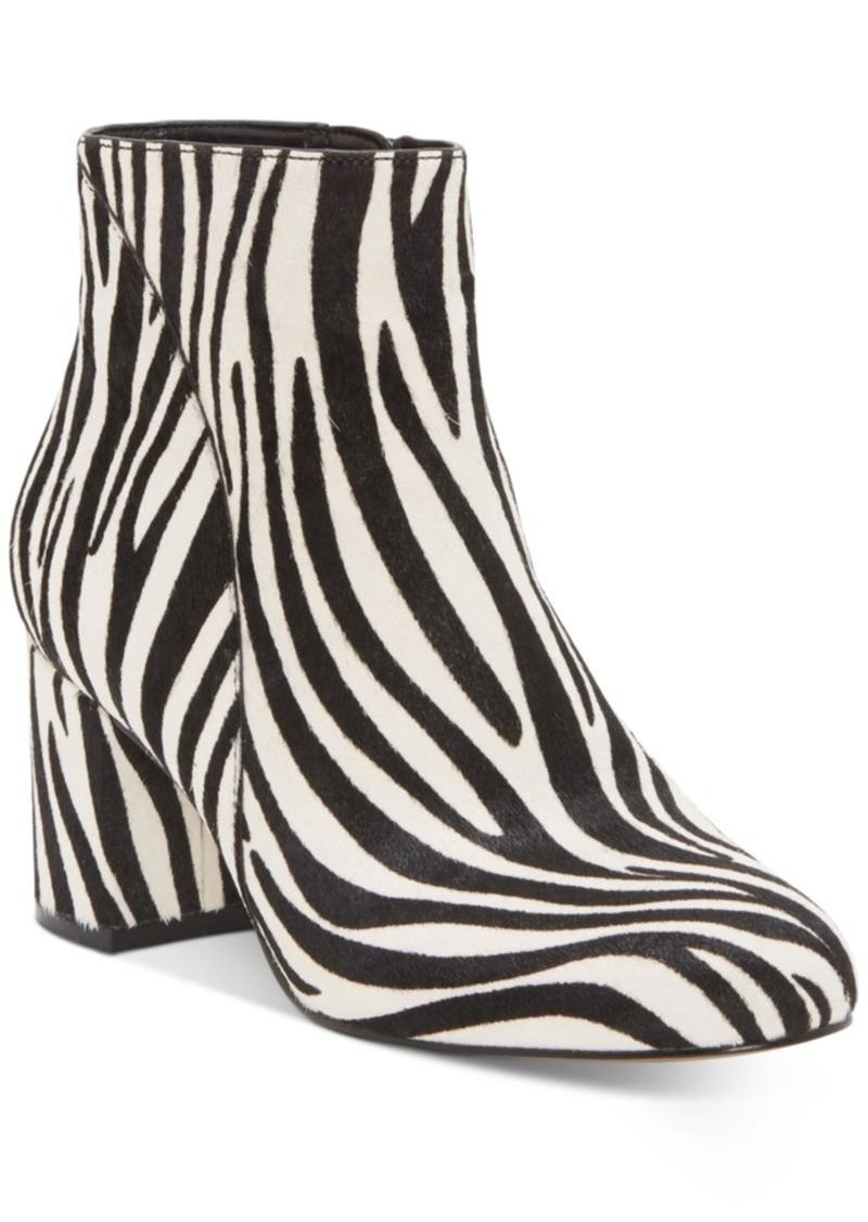 INC International Concepts Inc Floriann Block Heel Bootie, Created for Macy's Women's Shoes