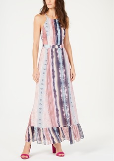 INC International Concepts I.n.c. Flounce-Hem Halter Maxi Dress, Created for Macy's