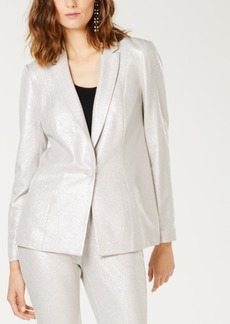 INC International Concepts I.n.c. Foil Crepe Blazer, Created for Macy's