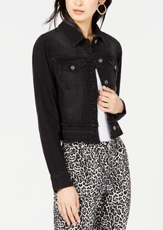 INC International Concepts I.n.c. Frayed Cropped Denim Jacket, Created for Macy's