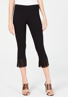 INC International Concepts Inc Fringe-Trim Cropped Skinny Pants, Created for Macy's
