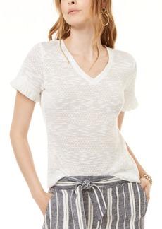 INC International Concepts Inc Fringe-Trim T-Shirt, Created for Macy's