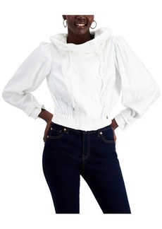 INC International Concepts Inc Funnel-Collar Cropped Jacket, Created for Macy's