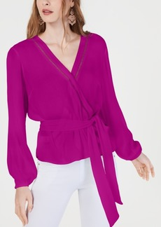 INC International Concepts I.n.c. Gauze Wrap Top, Created for Macy's