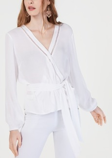 INC International Concepts Inc Gauze Wrap Top, Created for Macy's