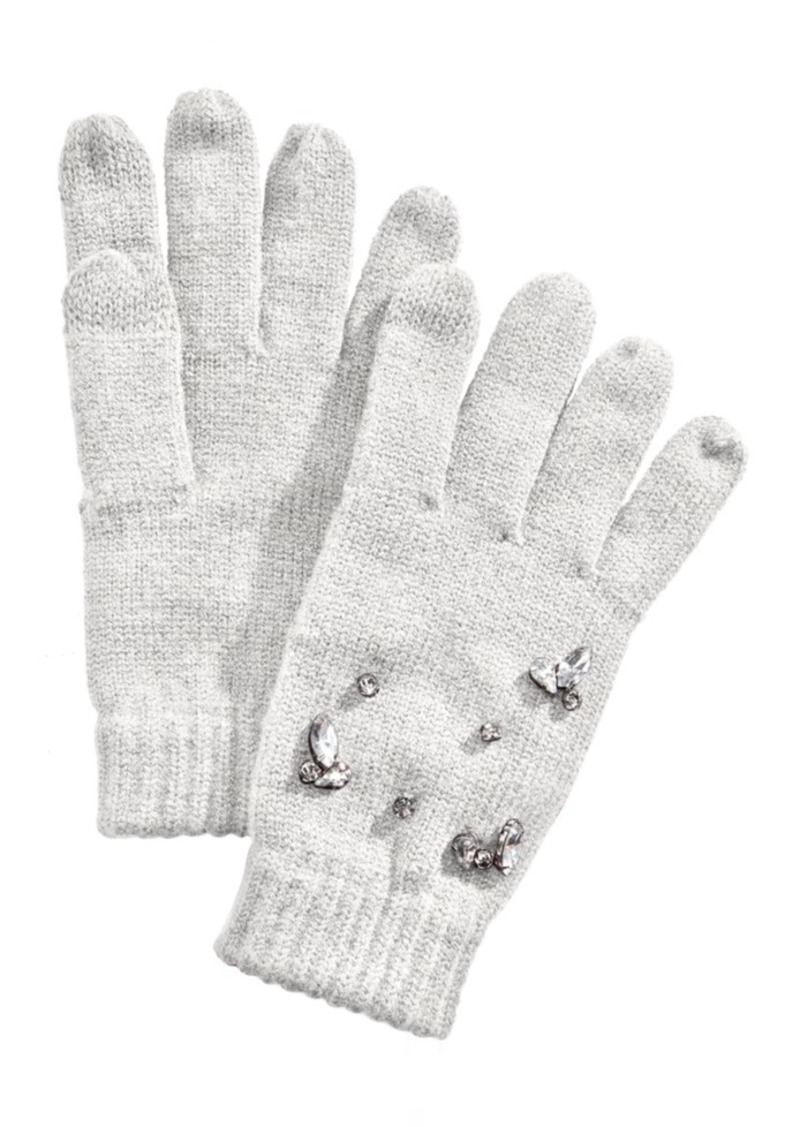 INC International Concepts Inc Gemstone-Embellished Tech Gloves, Created for Macy's