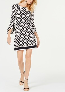 INC International Concepts I.n.c. Geo-Print Knit Sheath Dress, Created for Macy's