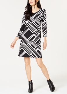 INC International Concepts I.n.c. Geo-Print Shift Dress, Created for Macy's