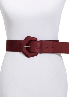 INC International Concepts Inc Geometric Covered Buckle Plus-Size Stretch Belt, Created for Macy's