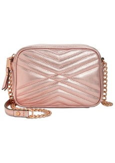 INC International Concepts I.n.c. Glam Metallic Quilted Camera Crossbody, Created for Macy's