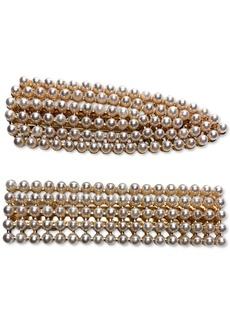 INC International Concepts Inc Gold-Tone 2-Pc. Set Imitation Pearl Hair Clips, Created for Macy's
