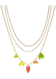 """INC International Concepts I.n.c. Gold-Tone 3-Pc. Set Fruit Charm Necklaces, 16""""/18""""/20"""" + 3"""" extender, Created for Macy's"""