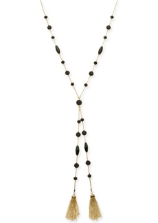 """INC International Concepts I.n.c. Gold-Tone Bead & Tassel Lariat Necklace, 28"""" + 3"""" extender, Created for Macy's"""
