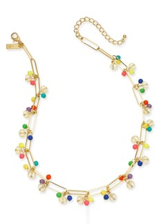 """INC International Concepts I.n.c. Gold-Tone Bead Cluster Statement Necklace, 18"""" + 3"""" extender, Created for Macy's"""