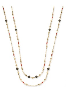 """INC International Concepts I.n.c. Gold-Tone Beaded Extra Long Statement Necklace, 62"""" + 3"""" extender, Created for Macy's"""