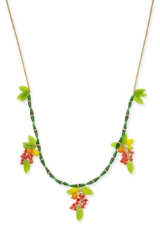 """INC International Concepts Inc Gold-Tone Beaded Fruit Long Statement Necklace, 34"""" + 3"""" extender, Created for Macy's"""