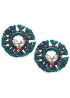 INC International Concepts Inc Gold-Tone Crystal & Bead Tassel Wreath Stud Earrings, Created For Macy's