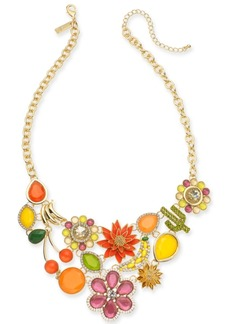"""INC International Concepts I.n.c. Gold-Tone Crystal & Stone Multi-Motif Statement Necklace, 18"""" + 3"""" extender, Created for Macy's"""